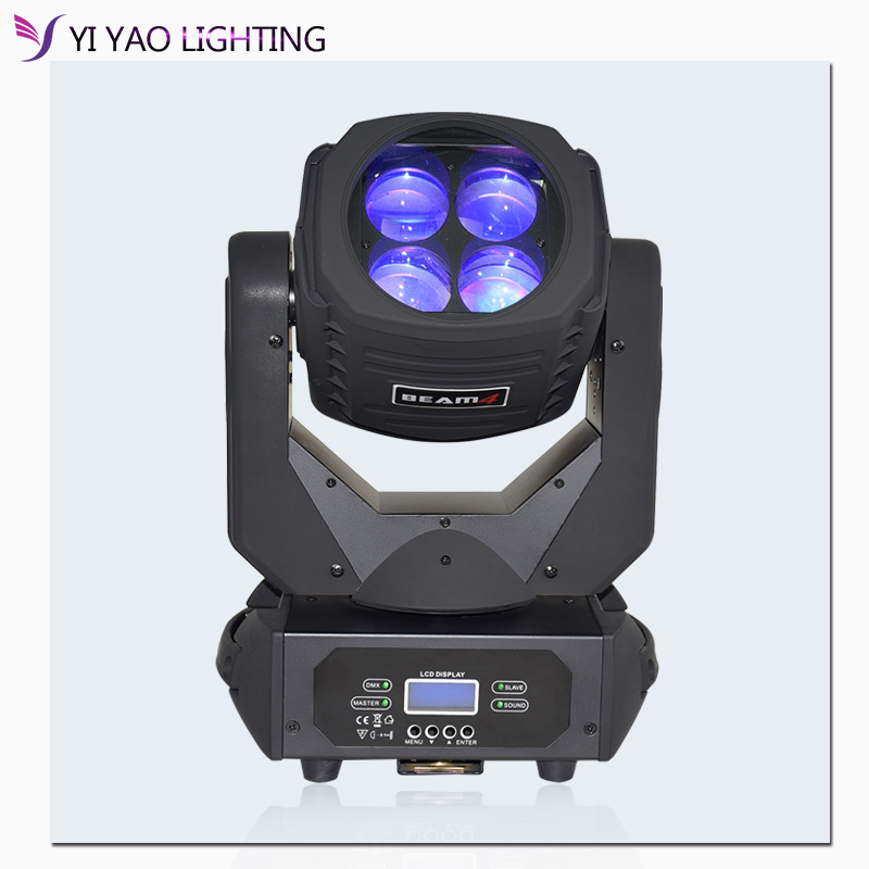 Led Beam Moving Head Light Super 4x25 W Moving Head Lights Of High Btightness With Color Wheel For Dj Party Stage Lighting