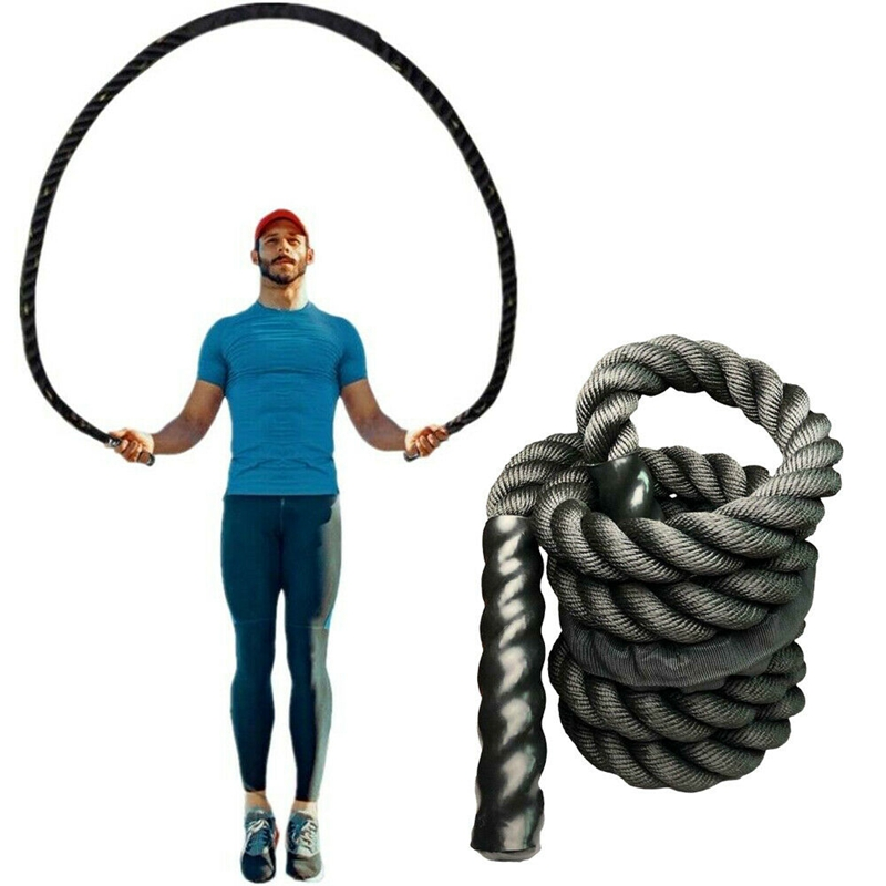 Fitness Heavy Jump Rope Crossfit Weighted Battle Skipping Ropes Power MMA Training Improve Strength Muscle 25mm