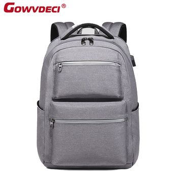 New Men's Fashion Backpack Men's Multifunctional Casual Computer Bag Simple College Student USB Waterproof Backpack