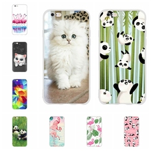 For Apple iPhone 5 5s SE Case Soft TPU Silicone 6 6s Cover Cute Panda Patterned Funda