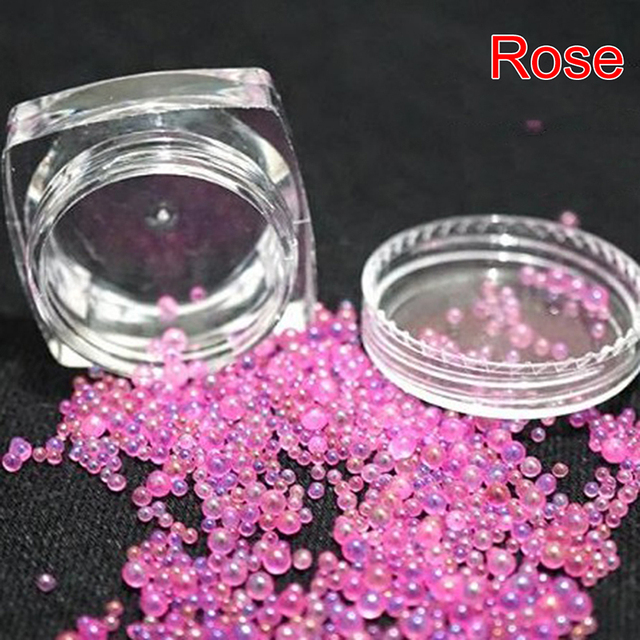 DIY Colorful Mix Water Bubble Glass Bead For Mold Resin Filling Assorted Micro Bead Resin Art Supplies Jewerly Making