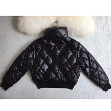 High quality elegant short down coat 90% white goose down
