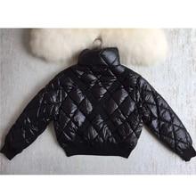 High quality elegant short down coat 90% white goose