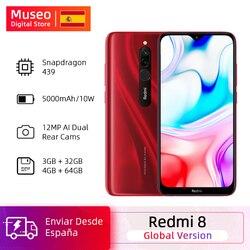 Globale Version Xiaomi Redmi 8 32GB / 64GB Snapdragon 439 Octa Core 12MP Dual Kamera Handy 5000mAh Große Batterie OTA