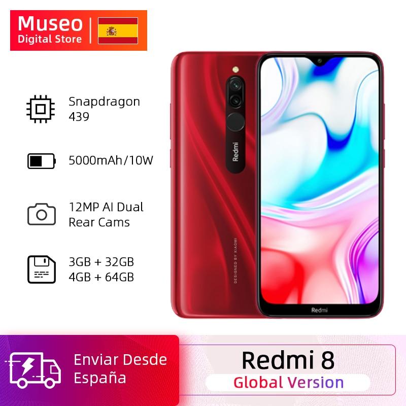 Teléfono Con Octa Core Xiaomi Redmi 8, versión Global, 32GB/64GB, Snapdragon 439, cámara Dual de 12,0mp, gran batería OTA de 5000mAh
