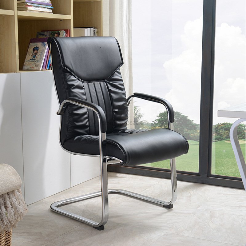 Guangdong Chair Leather To Work In An Office Chair Home Computer Chair Chess Mahjong Chair Staff Member Bow Meeting Chair