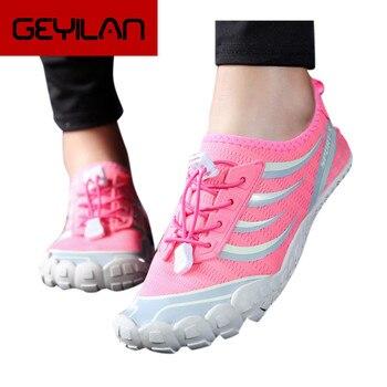 Women Beach Summer Wading Shoes Flats Water Shoes Barefoot Quick Dry Aqua Shoes Soft Bottom Women Swimming Shoes Sports