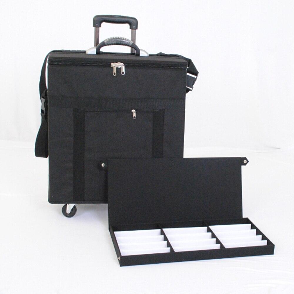 Lunettes boîte de rangement valise lunettes de soleil échantillon sac de transport avec la capacité de 180 pièces ophtalmique cadres ou 96 pièces de lunettes de soleil