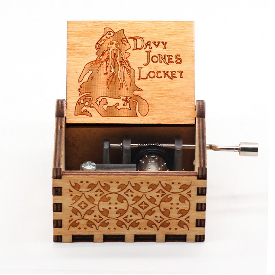 Популярная античная деревянная музыкальная шкатулка с рукояткой Davy Jones не может помочь влюбиться, вы мой солнечный свет, Рождественский под...