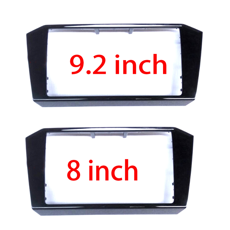 MIB 3 CD 9.2 inch or 8.0 inch box trim black paint Radio frame PANEL CD Plates For Passat B8 2018--