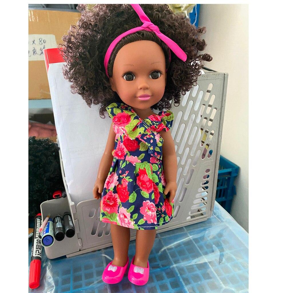 2020 черная кукла-реборн афро 35 см Reborn Boneca Pop куклы для новорожденных полностью силиконовые пупи Игрушки для маленьких девочек