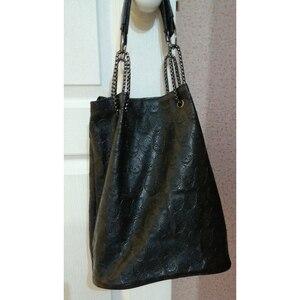 Image 5 - FGGS 2 Pcs/set Fashion Skull Women Handbag Shoulder Bag Tote Purse Leather Crossbody Bag With Silk Female Black Handbags