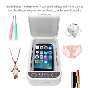 Image 4 - Dezynfekcja UV dezynfekcja Box zapobieganie grypie na telefon komórkowy wielofunkcyjny automatyczny sterylizator UV dla Iphone Huawei smartfony