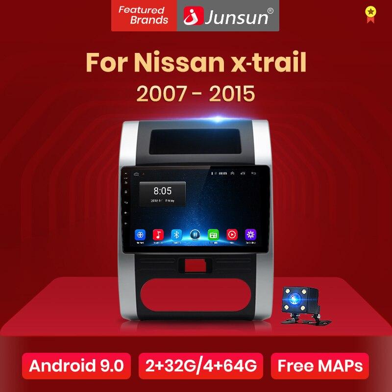 Junsun v1 2 + 128g android 9.0 para nissan x-trail 2 t31 t32 xtrail 2 2007-2015 rádio do carro reprodutor de vídeo multimídia gps rds 2 din dvd