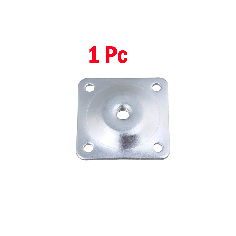 1Pc  Iron 48x48mm Silver Color Sofa Table Chair Feet Attachment Plates Furniture Leg Mounting Plates With Hanger Bolts Adapters