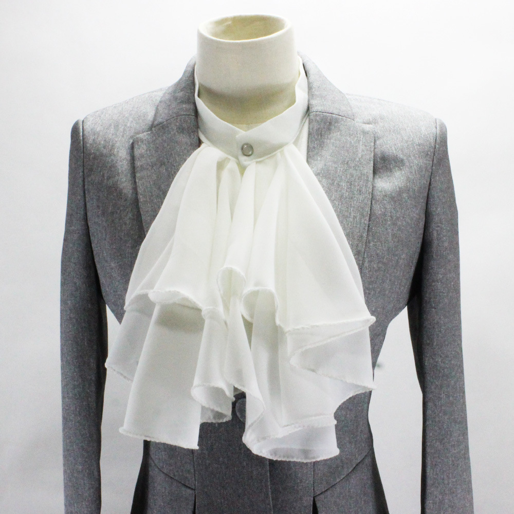 Court Exaggeration Chiffon Shirt Occupation Suit Decoration Dickie Detachable Fake Collar