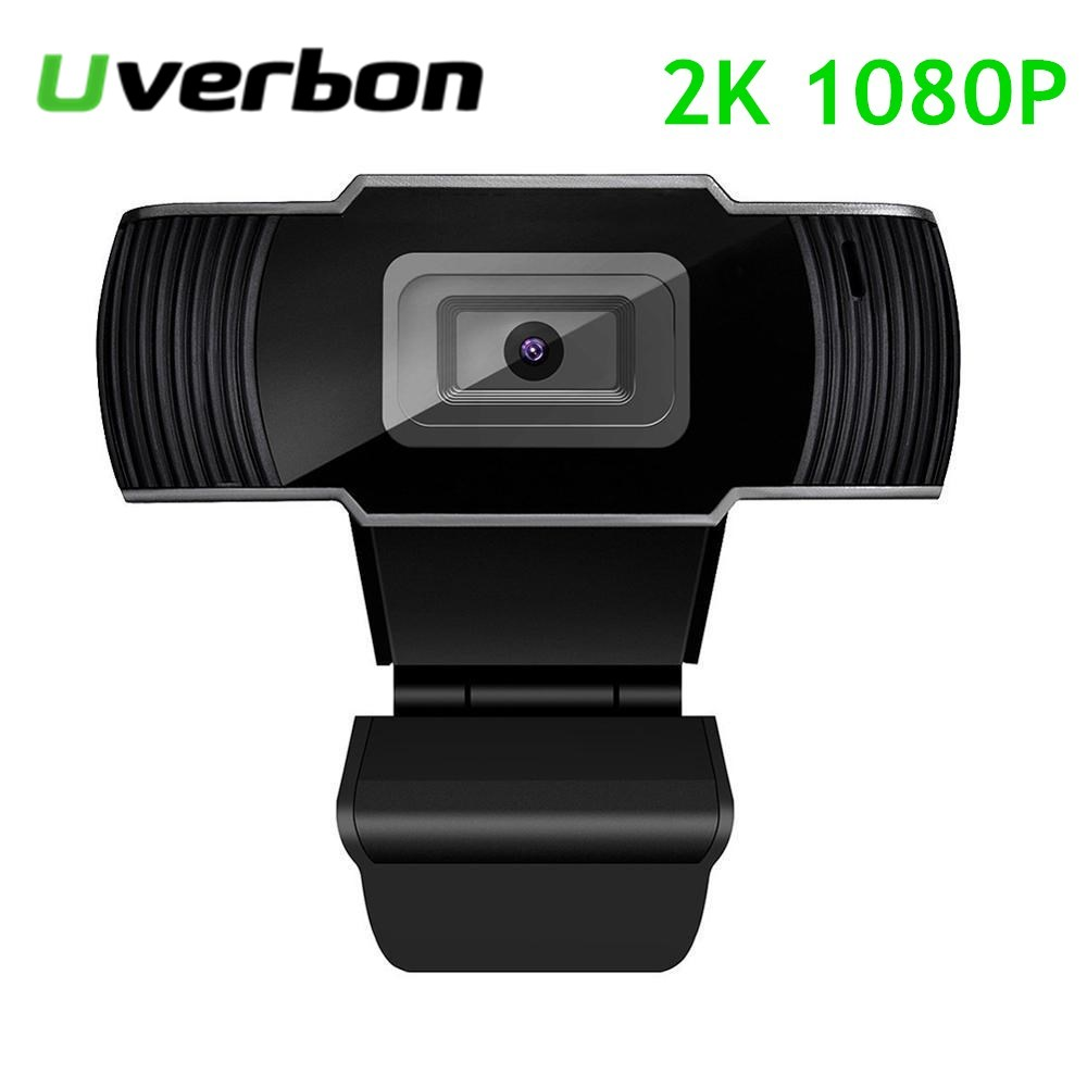 1080P HD 2K Webcam with Microphone USB Port for PC TV Video Conference Meeting Live Broadcast Online Class Webcam Camera