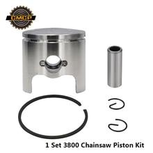 4 шт 3800/38CC поршень цилиндра комплект для бензопилы запасные части уплотнение поршня цилиндра поршень цепной пилы кольца