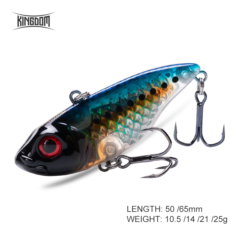 Fishing Kingdom VIB Fishing lures Sinking Vibration Artificial Hard Baits 50mm 65mm Crankbaits winter ice Salt Fishing Tackle wobblers