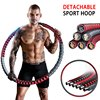 Detachable Stainless Steel Sport Hoop Adjustable Yoga Ring Fitness Gym Accessories Weighted Waist Trainer Ring Workout Equipment