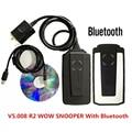 Считыватель кодов WOW Snooper 2020 V5.008 R2 Bluetooth OBDII Obd Obd2 сканер Профессиональный диагностический инструмент для грузовиков и автомобилей