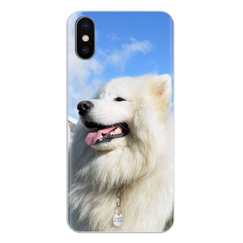 Schöne Samojeden nette Hund Für Samsung Galaxy A3 A5 A7 A9 A8 Stern A6 Plus 2018 2015 2016 2017 Silikon telefon Shell Abdeckung