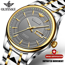 OUPINKE Men Automatic Mechanical Watch with Tungsten steel W