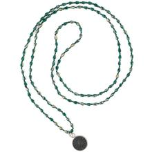 C.QUANCHI Round Buddha Pendant Charm Necklaces Chokers Fashion Crystal Beaded Sparkly Long Chain for Women
