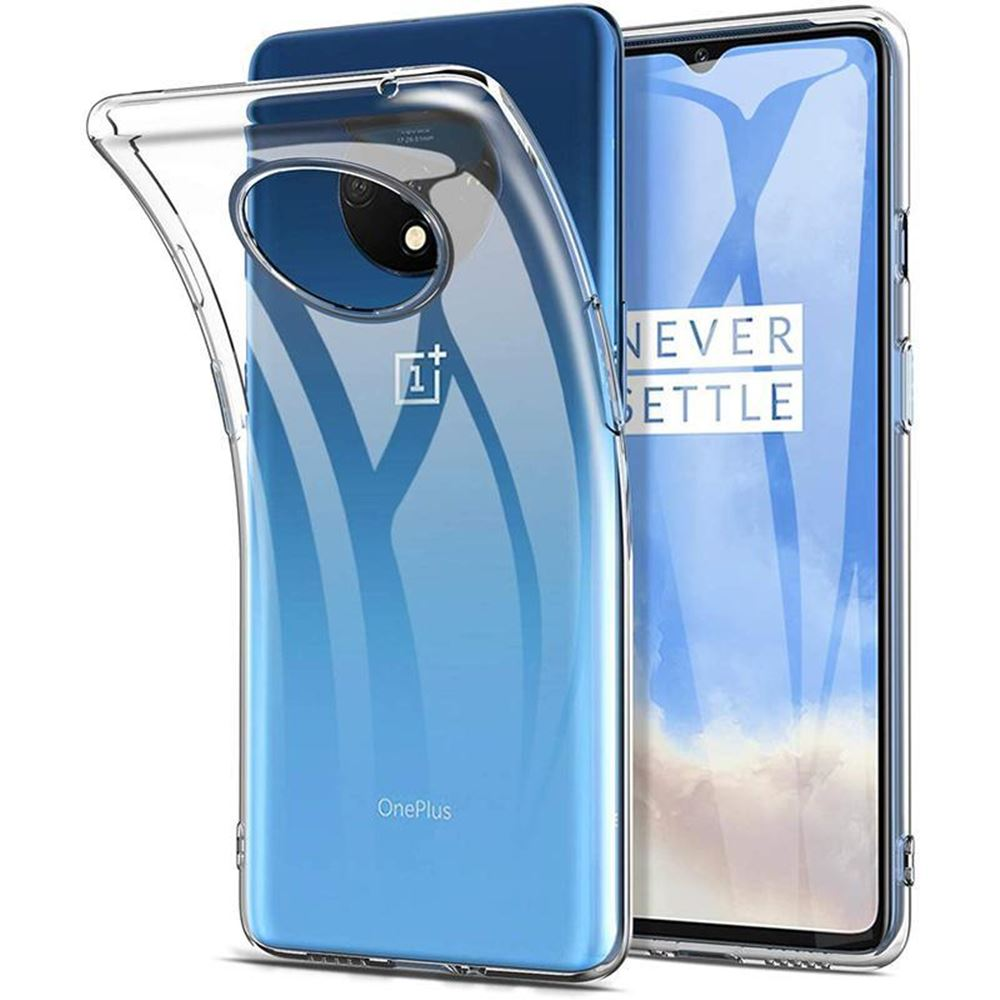 Clear <font><b>Case</b></font> For <font><b>OnePlus</b></font> 7T Cover Soft TPU <font><b>Bumper</b></font> Shockproof Protective Shell For One Plus 7 Pro 7T 1+7T <font><b>6T</b></font> 5G <font><b>6T</b></font> <font><b>Case</b></font> Transparent image
