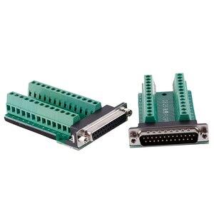 Плата адаптера терминал DB25 D-SUB женский 25Pin штекер Breakout PCB плата 2 ряда терминалов Разъемы Бесплатная сварочная головка