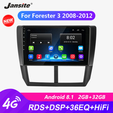 Jansite 9 RDS Wifi Car Radio For Subaru Forester 3 2008-2012 autoradio Android Touch screen GPS Mirror-link players with frame
