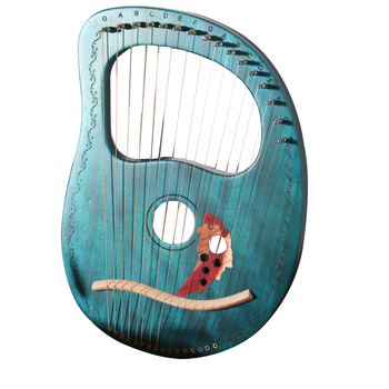 Travel Kids 16 Strings Solid Wood Veneer Mini Portable Party Compact Clear Sound Professional Gift Concave Design Lyre Harp
