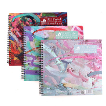 Kuelox Oil Pastel Books Oil Pastel Special Paper Coil Book Crayon Drawing Paper 20sheets