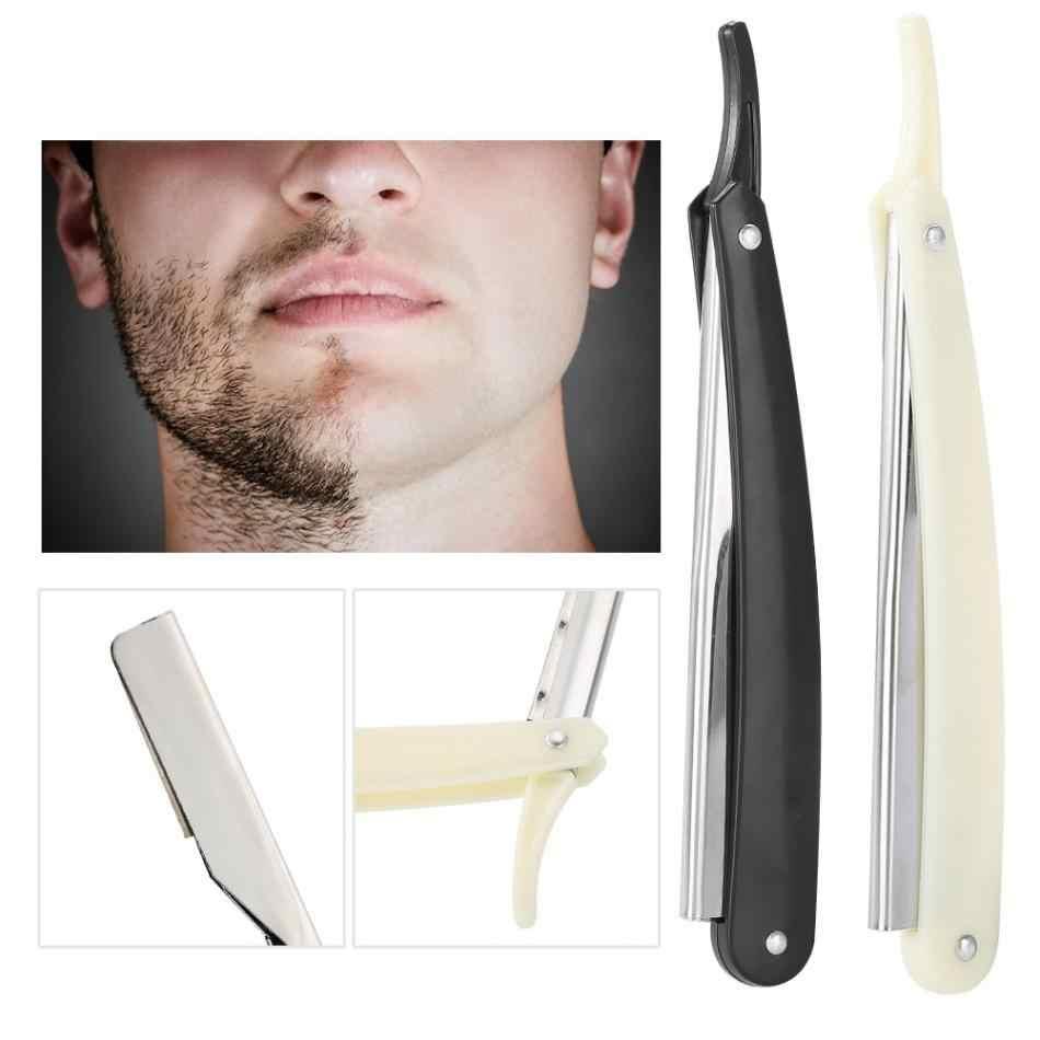 수동 면도기 전문 스트레이트 에지 스테인레스 스틸 날카로운 이발사 면도기 접이식 면도 면도기 블레이드 스트레이트 면도기 도구