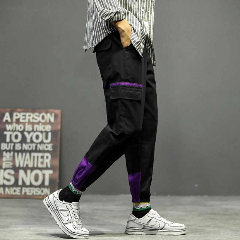 2019 Autumn Bib Overall Men Popular Brand Autumn Clothing Trousers Beam Leg Casual Pants Korean-style Trend Sports Pants