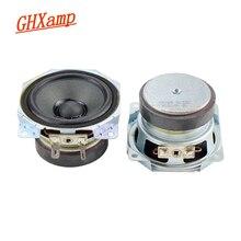 GHXAMP 2.5 cal głośnik niskotonowy głośnik niskotonowy 4OHM 10W podwójny magnetyczny papier umywalka tkaniny krawędzi dźwięku Colum głośnik DIY 1 Pairs