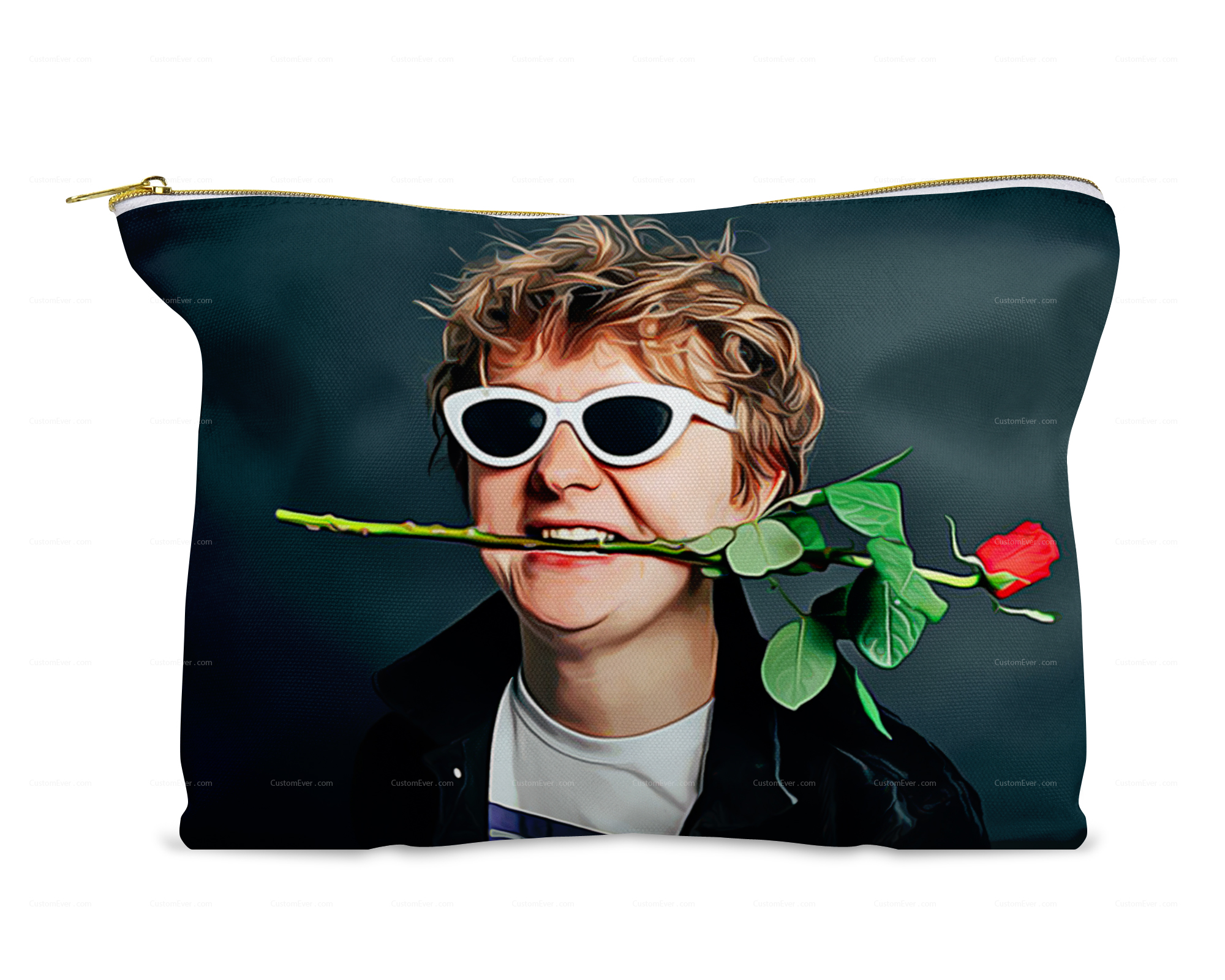Lewis Capaldi Rose Cosmetic Bag Travel Size Toiletries Zipper Pouch Small Makeup Bag Cute Travel Bag For Women