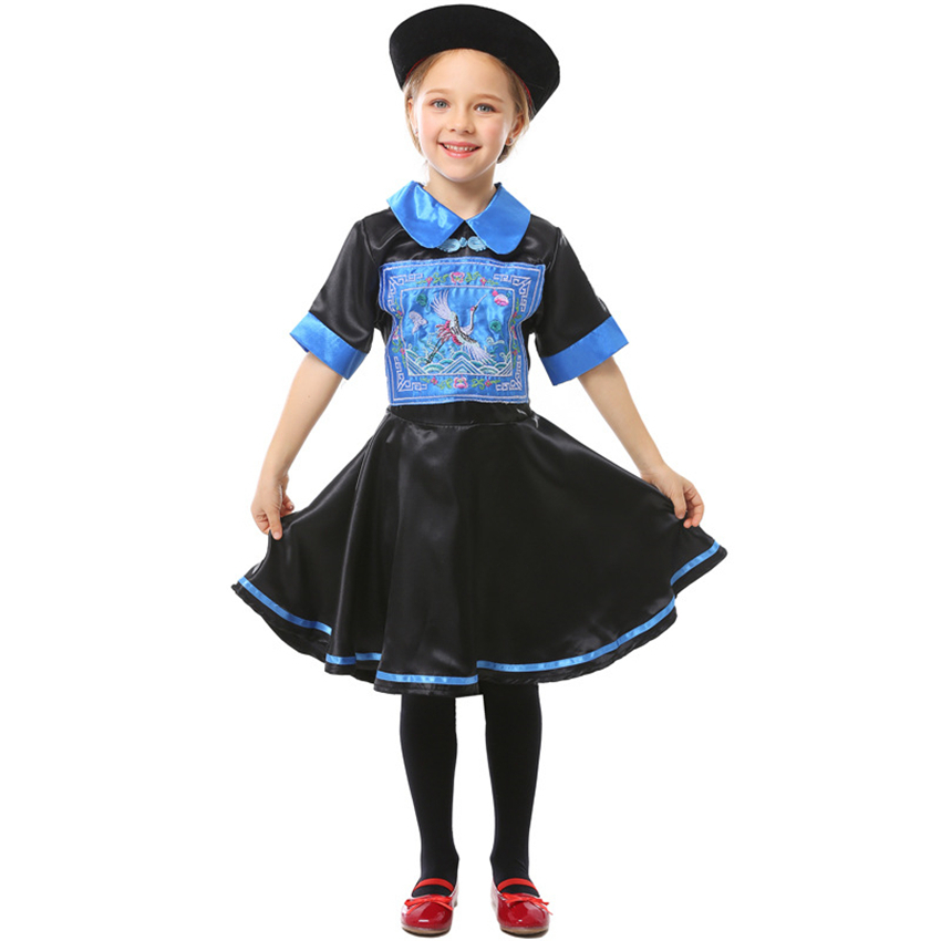 Chinese Style Boy/'s Qing Dynasty Zombie Dress Up Kid Costume Cosplay Halloween