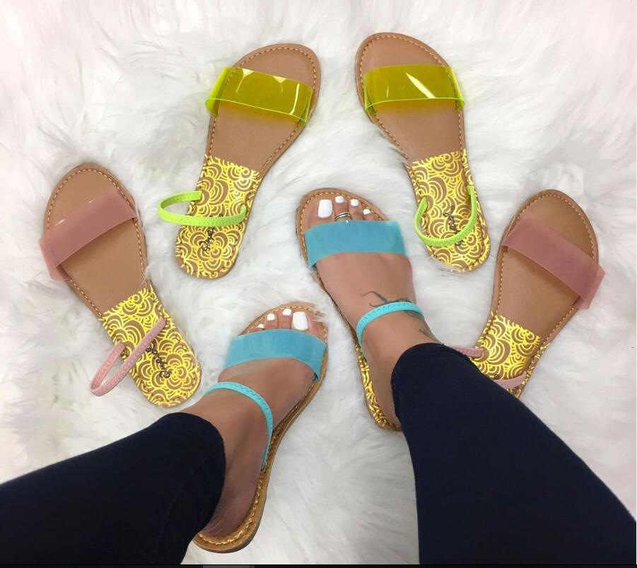 SWONCO Slippers Women Summer Shoes 2020 New Neon Yellow PVC Jelly Shoes Female Slippers Sandal For Women Casual Shoes Slides