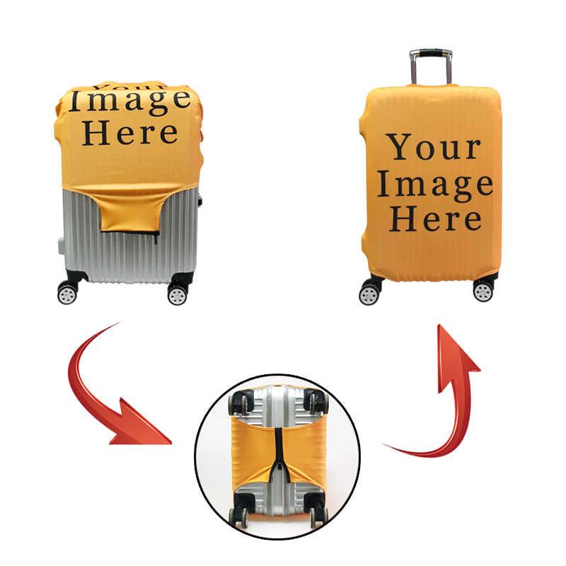 Capa protetora de bagagem elástica alta belas flores imprimir acessórios de viagem para 18-32 Polegada mala transportadora capa