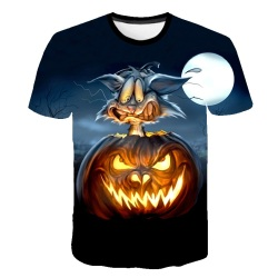 2020 Summer Halloween Pumpkin Head t shirt Men Cosplay 3d Printing T-Shirt Funny Short Sleeve Print Tshirts Casual Tee Tops