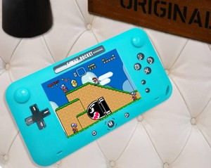 Image 3 - רטרו fc מובנה 208 משחק 1000mAh סוללה רטרו וידאו כף יד קונסולת משחקי 4.0 אינץ HD LCD 360 ° כפול שליטת ג ויסטיק משחק c