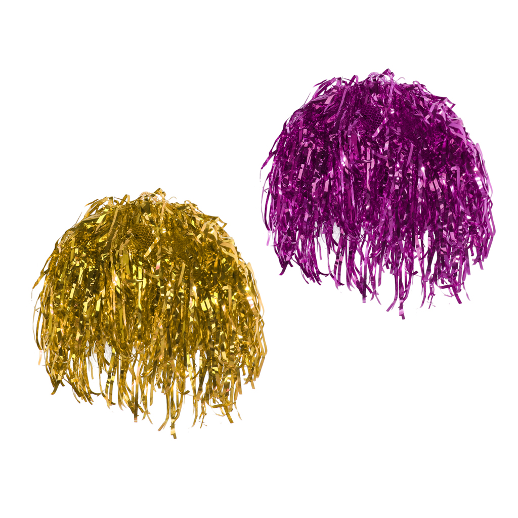 2x Shiny Rose Gold Tinsel Wigs Fancy Dress Costume Metallic Hen Stag Party