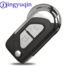 Jingyuqin capa para chave remota automotiva, 2b, dobrável, para citroen, ds3, uncut, va2, lâmina, carcaça
