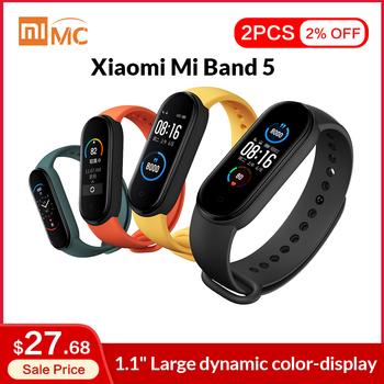 Xiaomi-Opaska Mi Band 5 dostępna inteligentna kolorowy ekran AMOLED 1 1 #8221 pomiar akcji serca monitor fitness wodoodporna z Bluetooth 5 0 5 USD zniżki przy zamówieniach powyżej 30 USD promo kod OBLEDNEOFERTY5 tanie i dobre opinie Wszystko kompatybilny RUBBER Passometer Fitness tracker Uśpienia tracker Wiadomość przypomnienie Przypomnienie połączeń