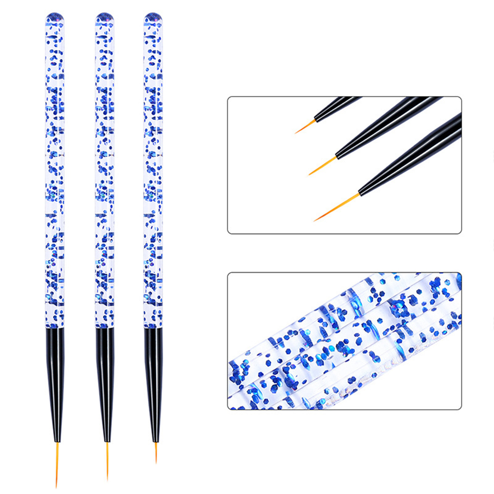 Image 3 - 3Pcs/set Nail Art Brush For Manicure Gel Brush Crystal Acrylic Painting Dotting Pen Carving Tips Manicure Salon Tools-in Nail Art Equipment from Beauty & Health