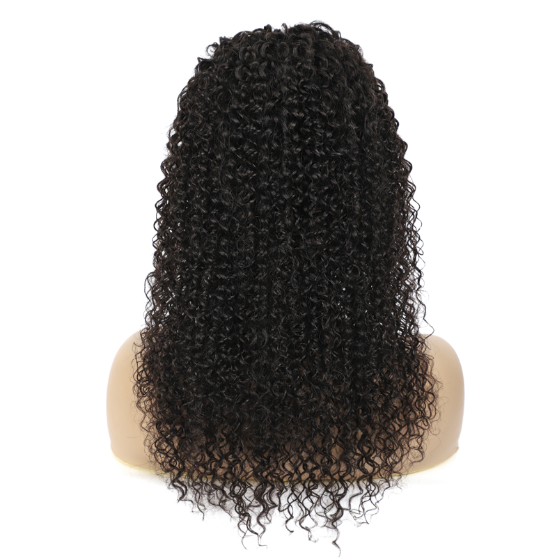 peruca cheia máquina peruca preta natural para mulheres