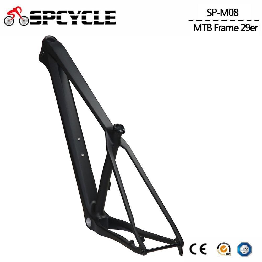 2020 новая углеродная MTB рама 29er рама карбоновая для горного велосипеда 148*12 мм BSA; Углерод MTB велосипедные рамы 15/17/19