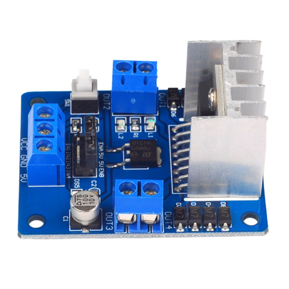 L298N Motor Drive Board Stepper Motor Robot Smart Car Module Onboard 5V Output Blue Driver Board Module