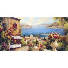 С ручной росписью красивый картины маслом Марины ди леука-панель город скенс произведение искусства для декора гостиной